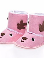 Girls' Shoes Suede Fall Winter Comfort Boots Booties/Ankle Boots For Casual Blushing Pink Brown