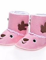 Fille Chaussures Daim Automne Hiver Confort Bottes Bottine/Demi Botte Pour Décontracté Marron Rose