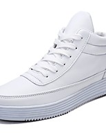 Men's Shoes Leatherette Spring Fall Comfort Sneakers Split Joint For Casual Black White