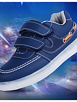 Girls' Shoes PU Spring Fall Comfort Sneakers For Casual Blushing Pink Dark Blue Black White