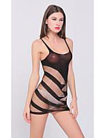 Ultra Sexy Vêtement de nuit Femme,Sexy Rayures Nylon
