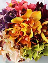 7 têtes / branche soie campanule table fleurs colorées fleurs artificielles