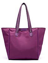 Women Bags All Seasons Nylon Shoulder Bag Zipper for Blue Black Purple