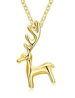 Жен. Ожерелья с подвесками Ожерелья-цепочки Жираф Позолоченное розовым золотом Сплав Бижутерия Назначение Рождество
