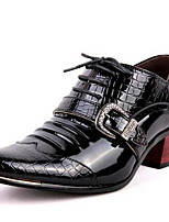 Men's Shoes Patent Leather Fall Winter Formal Shoes Oxfords For Casual Party & Evening Blue Black