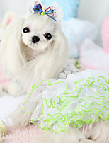 Dog Dress Dog Clothes Casual/Daily Princess White Costume For Pets