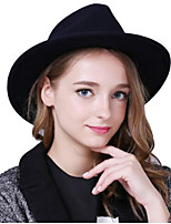 Women's Cotton Cotton Blend Floppy Hat,Headwear Solid Autumn/Fall Winter Pure Color