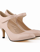 Women's Shoes PU Spring Summer Comfort Heels For Casual Dress Almond Wine Fuchsia Black White