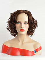 Femme Sans bonnet Mi Longue Marron Coupe Carré Perruque Naturelle Perruque de fête Perruque de célébrité Perruque Déguisement