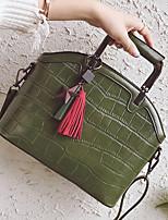 Donna Sacchetti Per tutte le stagioni PU (Poliuretano) Tote Cerniera per Shopping Casual Nero Rosso Grigio Marrone Verde militare