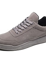 Men's Shoes Rubber Spring Fall Comfort Sneakers Lace-up For Outdoor Black/Red Red Gray Black