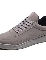 Homme Chaussures Gomme Printemps Automne Confort Basket Lacet Pour Noir Gris Rouge Noir/Rouge