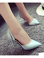Women's Shoes PU Spring Fall Basic Pump Heels Stiletto Heel For Casual Light Blue Blushing Pink Black