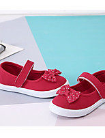 Girls' Shoes Canvas Spring Fall Comfort Flats For Casual Blushing Pink Red Black