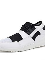 Men's Shoes Tulle Summer Fall Comfort Light Soles Sneakers Lace-up For Casual Outdoor Black White