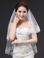 Two-tier Fashionable Jewelry Sweet Style Flower Style Cut Edge Lace Applique Edge Petals Princess Bridal Headpieces Accent/Decorative