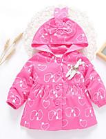 Girls' Print Jacket & Coat Fall Long Sleeve Blushing Pink Light Green Fuchsia Lavender