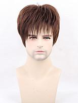 Women Human Hair Capless Wigs Brown Short Straight Hot Sale