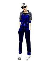 Mujer Camiseta de running con pantalones Manga Larga Secado rápido Transpirabilidad Eslático Suavidad Chándal Chaquetas de Lana /