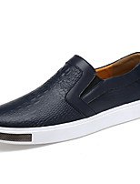 Men's Shoes Real Leather Fall Winter Moccasin Comfort Loafers & Slip-Ons For Casual Party & Evening Blue Black White
