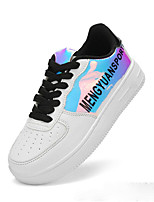 Girls' Shoes PU Fall Comfort Sneakers For Casual Black White
