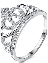 Men's Women's Engagement Ring Band Rings Cubic Zirconia Classic Elegant Zircon Alloy Crown Jewelry For Wedding Party Engagement Gift