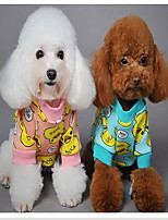 Dog Sweatshirt Dog Clothes Casual/Daily Cartoon Blue Pink Costume For Pets