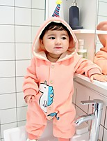 Baby Print One-Pieces,Cotton Winter Blushing Pink Gray