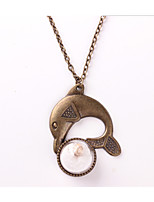 Women's Pendant Necklaces Dolphin Alloy Animal Design Cute Style Jewelry For Daily Casual