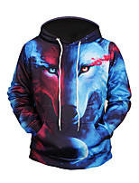 Men's Daily Going out Hoodie 3D Print Hooded Micro-elastic Polyester Long Sleeve Fall