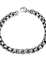 Men's Chain Bracelet Punk Hip-Hop Stainless Steel Silver Plated Geometric Jewelry For Halloween Evening Party