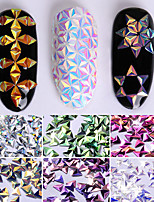 0.7g Unicorn AB Color Nail Sequins Chameleon Triangle Iridescent Flakies 6 Colors 3D Nail Art Decoration Manicure Tips