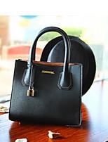 Women Bags All Seasons PU Tote Zipper for Casual Black Dark Green Camel