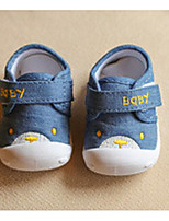 Baby Shoes Canvas Spring Fall First Walkers Sneakers For Casual Light Blue Blue Fuchsia