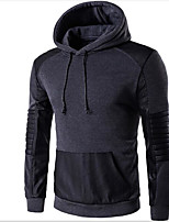 Men's Daily Hoodie Color Block Hooded Micro-elastic Cotton Long Sleeve Fall