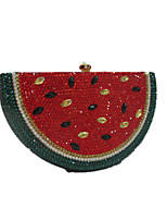 Women Bags All Seasons Metal Evening Bag Crystal Detailing for Wedding Event/Party Formal Red