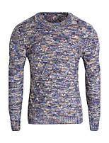 Standard Pullover Da uomo-Casual Semplice Arcobaleno Rotonda Manica lunga Poliestere Inverno Medio spessore Media elasticità