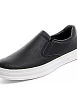 Для мужчин обувь Полиуретан Весна Осень Удобная обувь Мокасины и Свитер Назначение Повседневные Черный Серый