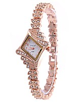 Femme Montre Habillée Montre Bracelet Montre Diamant Simulation Chinois Quartz Alliage Bande Or Rose
