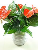 1Bunch Artificial Flower Fake Anthurium Bouquet Wedding Arrangement  Home Decoration