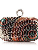 Women Bags All Seasons Polyester Clutch Crystal Detailing for Casual Blue Gold Light Green