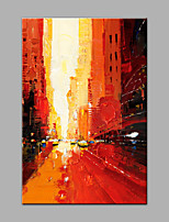 Hand-Painted Abstract VerticalModern 1 pc Canvas Oil Painting For Home Decoration