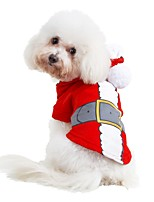 Cat Dog Costume Hoodie Dog Clothes Party Cosplay Christmas British Red Costume For Pets