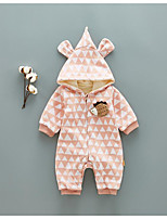 Baby Geometic One-Pieces,100%Cotton Fall Winter