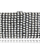 Women Bags All Seasons Polyester Evening Bag Pearl Detailing Pockets for Event/Party Gold Black Silver