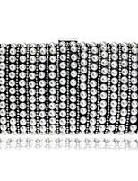 Damen Taschen Ganzjährig Polyester Abendtasche Perlen Verzierung Taschen für Veranstaltung / Fest Gold Schwarz Silber