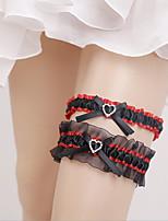 Lace Polyster Wedding Garter with Rhinestone Wedding AccessoriesClassic Elegant Style