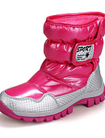 Girls' Shoes Patent Leather Winter Fall Snow Boots Boots For Casual Black Purple Pink