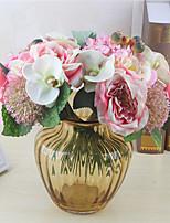 1 ramo de plástico outros flor de mesa flores artificiais multicolor opcionais