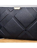Men Bags All Seasons Cowhide Wallet Zipper for Event/Party Formal Blue Black